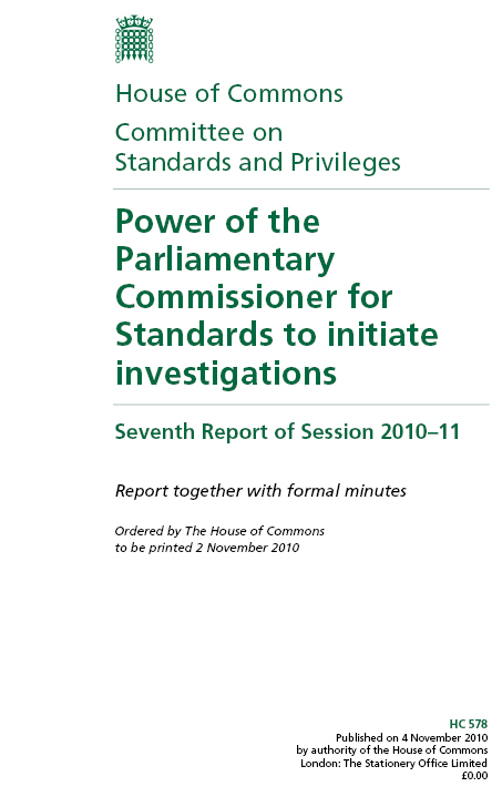 House of Commons Committee on Standards and privileges
