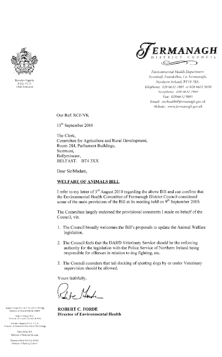 Report on the Welfare of Animals Bill