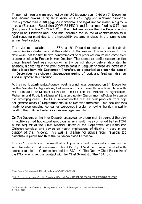 Inquiry into the Dioxin Contamination Incident, December 2008