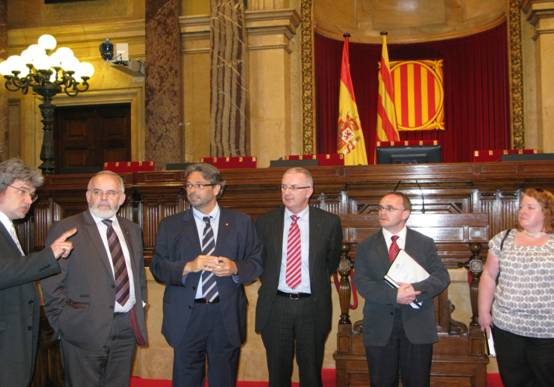 OFMDFM Committee meeting with the President of the Catalan Parliament in Barcelona
