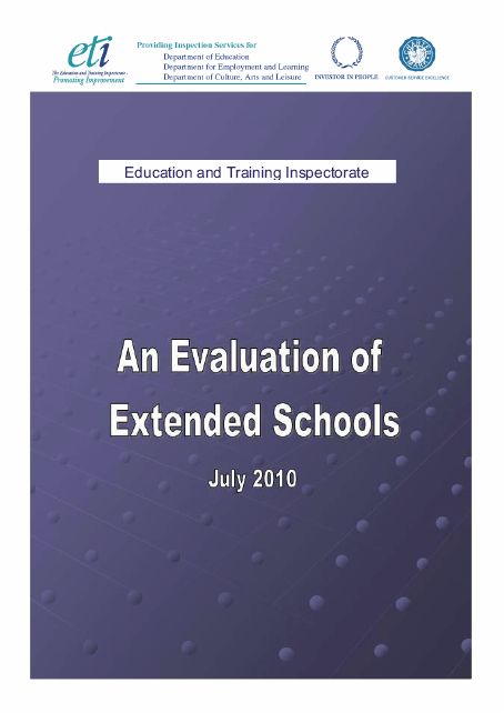 ETI - An evaluation of extended schools