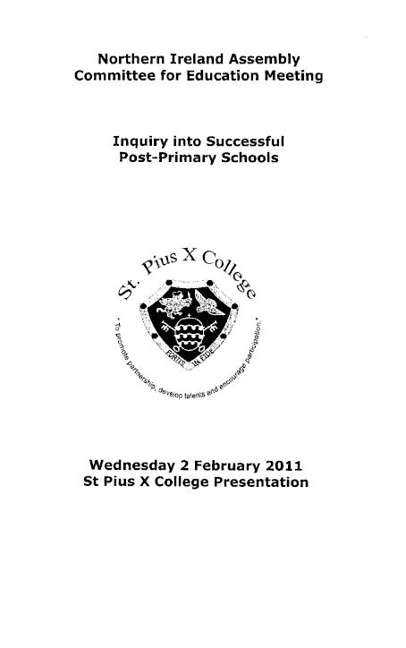 St Pius X College submission