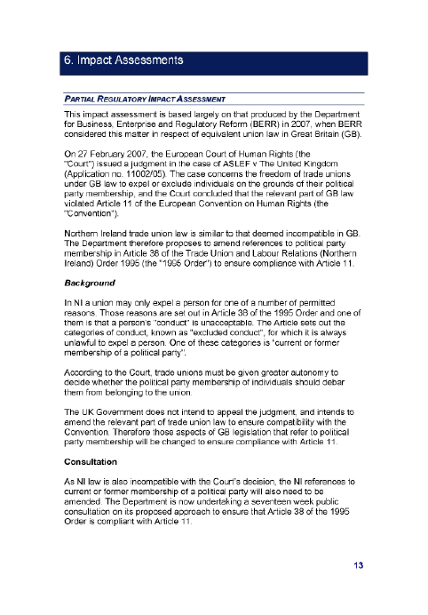 PUBLIC NOTICE OF COMMITTEE STAGE OF THE EMPLOYMENT BILL – PUBLISHED 2ND JULY 2009
