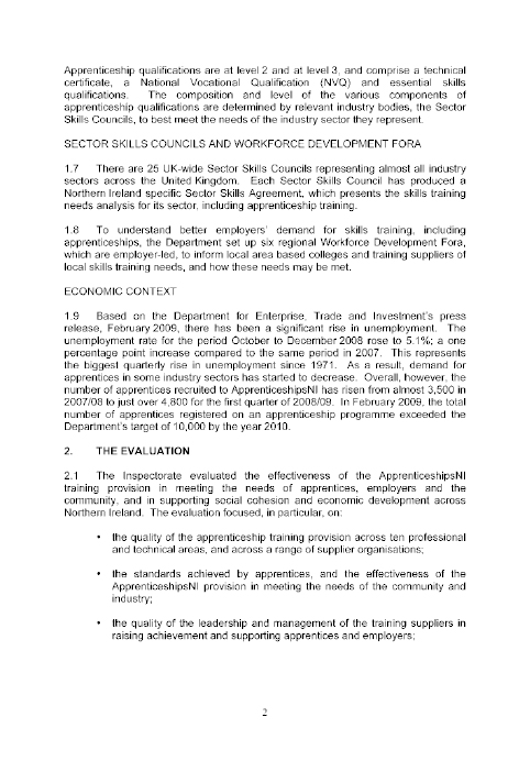 Committee For Employment And Learning Rpeort Inquiry Into The Way