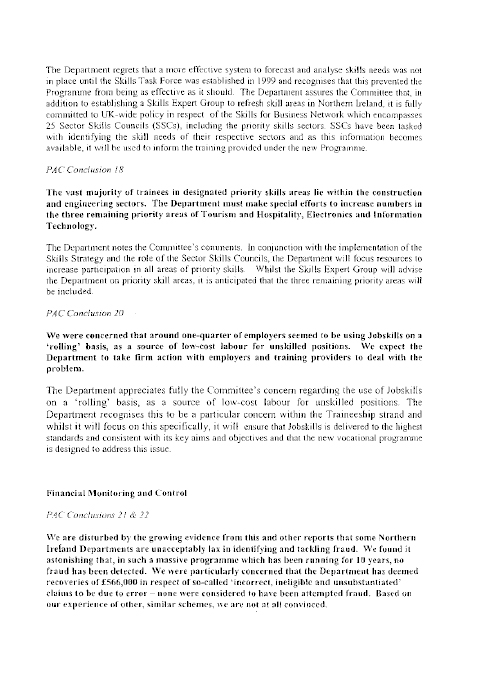 Employment and Learning Committee Report - First Report on Training ...