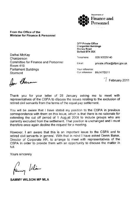 Request For Personnel Letter