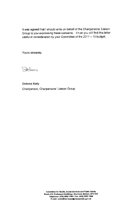 How to write a redundancy letter images letter format formal sample welcome to the northern ireland assembly report on the executives committee for regional development letter to spiritdancerdesigns Gallery