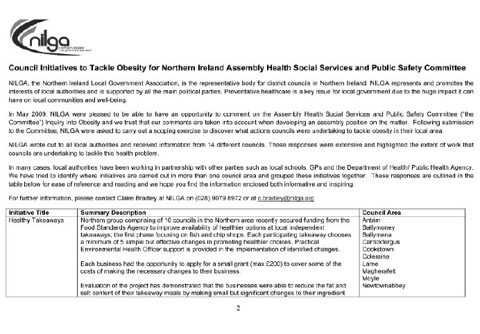 Northern Ireland Assembly Committee for Health, Social Services and
