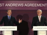 Prime Minister Tony Blair and Taoiseach Bertie Ahern during the St Andrews negotiations