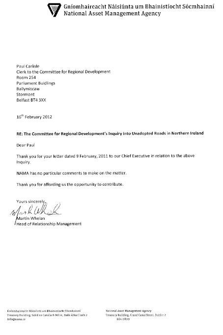 National Asset Management Agency submission