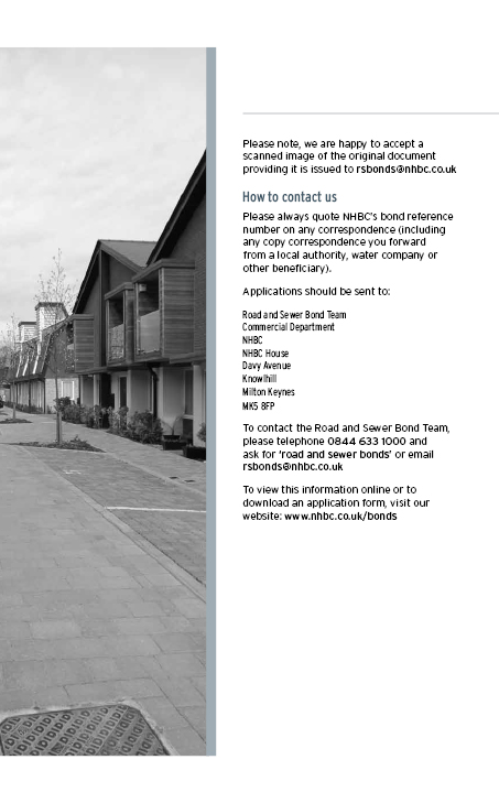 National House Building Council submission