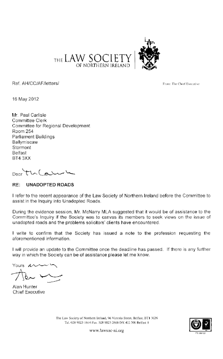 The Law Society of Northern Ireland submission