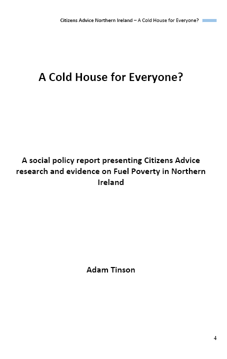 Citizen Advice Report