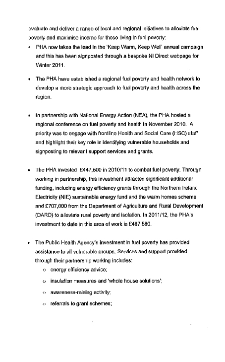 Department for Health Social Services and Public Safety submission