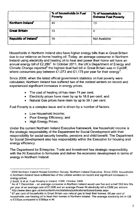 Fuel Poverty Coalition submission