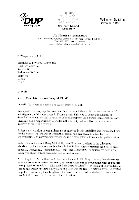 letter of complaint about a holiday