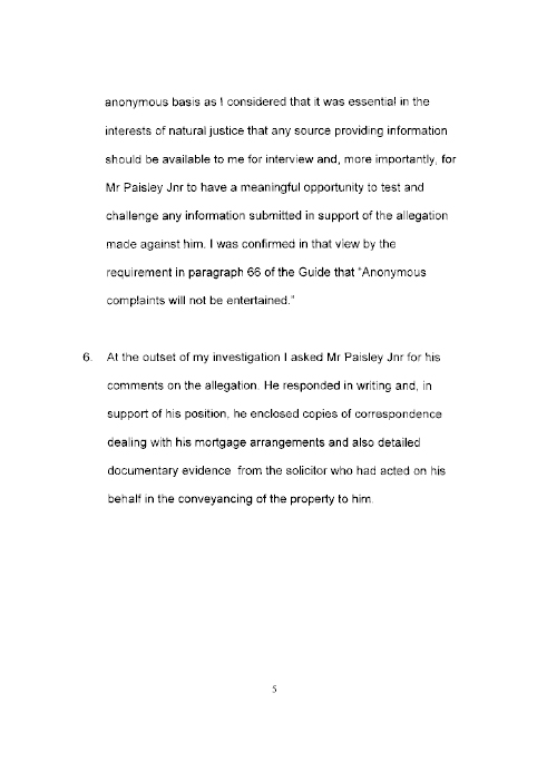 report on a complaint by mr john dallat mla